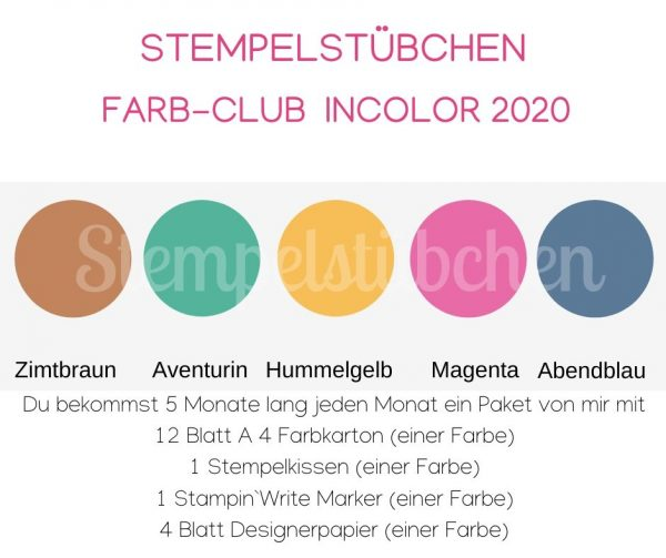 incolor 2020 Stampin Up
