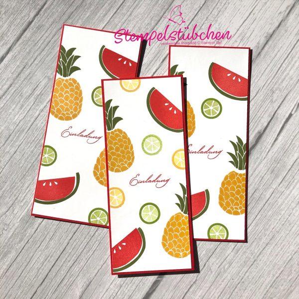 Einladungskarte Sommer Stampin Up Früchte