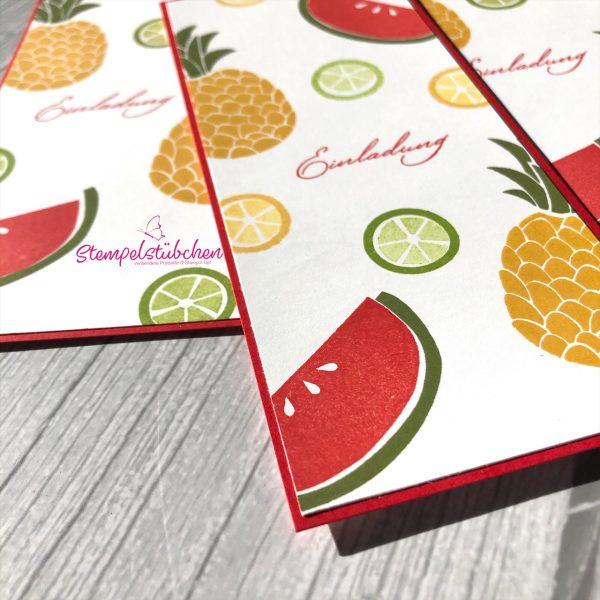 Sommer Einladung Party Früchte Cuiet Fruit Stampin Up