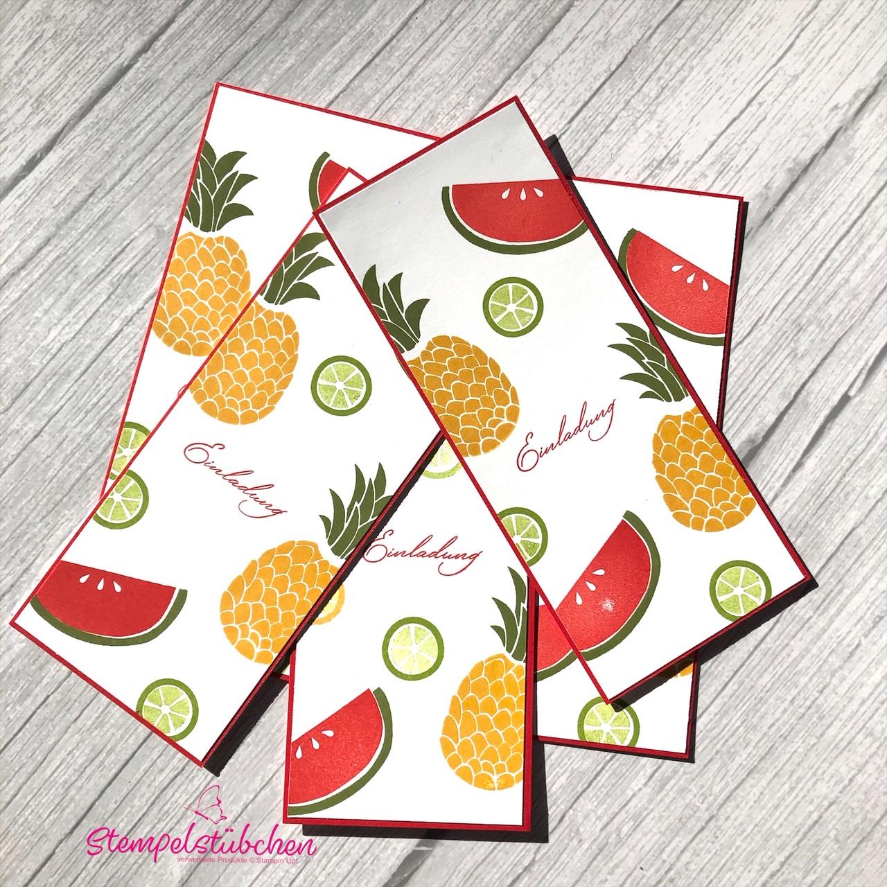 Stampin Up Einladung Karte Sommer Früchte Cuiet Fruit Rostock