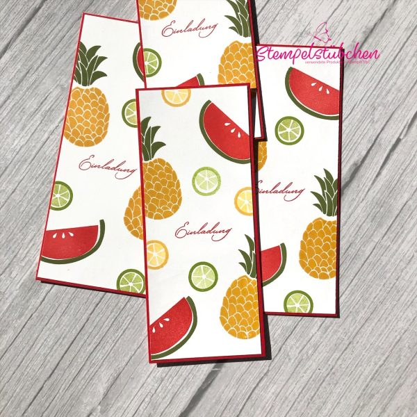 Stampin Up Rostock Cute frute Einladung