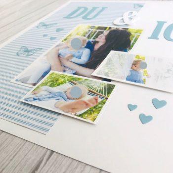Layout für Scrapbooking gestaltet mit Stampin Up Produkten Bastelideen