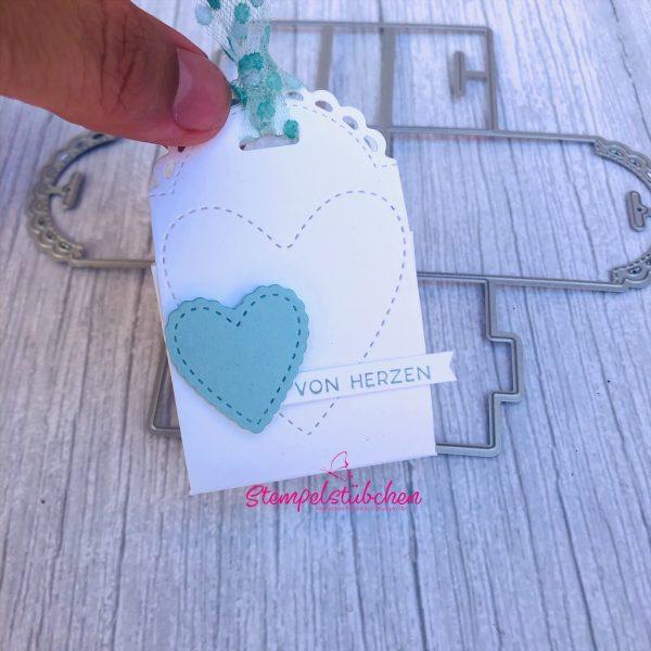 von Herzen Geschenk kleines Dankeschön Verpackung Kleinigkeit basteln Stampin Up