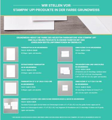 Fluesterweiss-Grundweiss bestellen Stampin Up