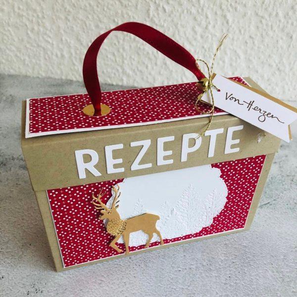 Rezeptbox basteln Bastelidee Geschenke Stampin Up