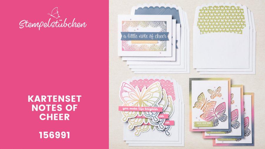 Basteln für Anfänger Kartenset von Stampin Up mit Schmetterlingen