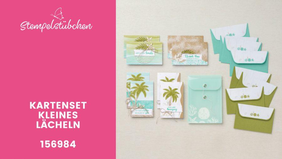 Basteln für Anfänger Kartenset von Stampin Up mit Strandmotiven perfekt für den Urlaub- Kartenset kleines Lächeln