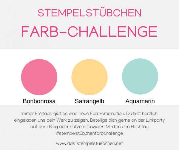 104 Bonbonrosa-Safrangelb-Aquamarin
