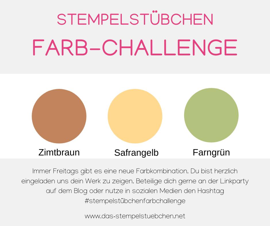 Farb-Challenge 103 Farngrün-Zimtbraunb-Safrangelb-Stampin Up