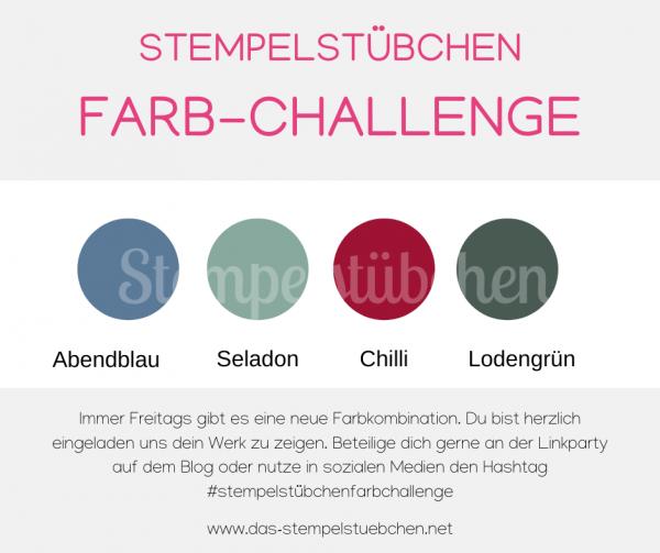 106 Chili-Lodengrün-Abendblau-Seladon-Stampin Up