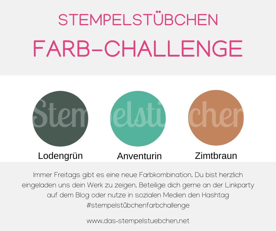 Farbkombination mit Stampin Up Farben Lodengrün, Aventurin, Zimtbraun