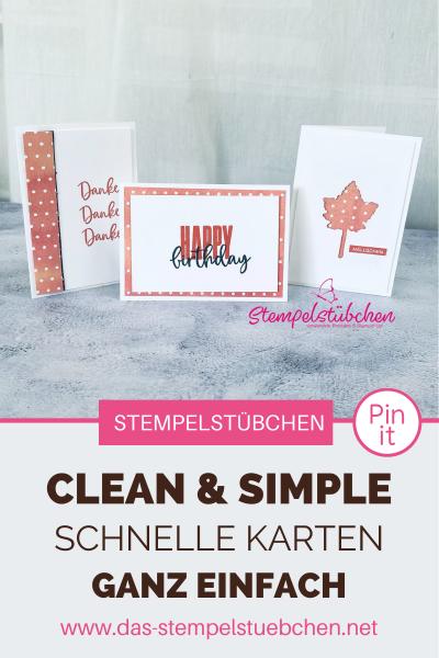 Pinterest-Basteln-Stampin Up-Bastelideen-Schnell und einfach-Stempelstübchen